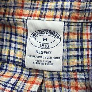 Brooks Brothers 100% linen Button Down shirt